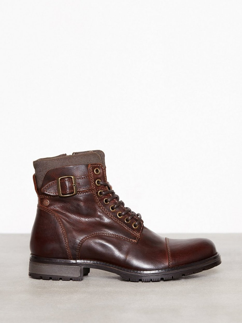 JFWALBANY LEATHER BROWN STONE NOOS