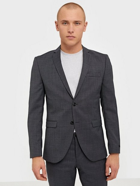 Premium by Jack Jones Jprsolaris Blazer Noos Blazere jakkesæt Mørkegrå mand køb billigt