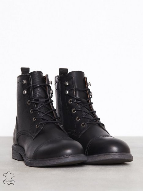 Selected Homme Slhterrel Leather Boot W Noos Støvler Sort - herre