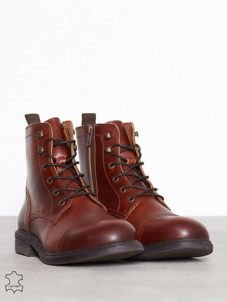 Selected Homme Slhterrel Leather Boot W Noos Støvler Lysebrun - herre
