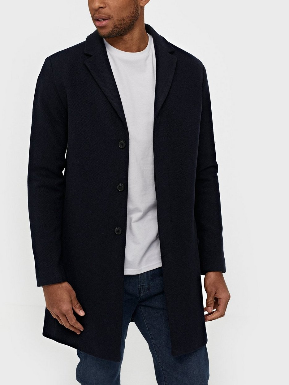 d4a13149a5db Slhbrove Wool Coat B Noos - Selected Homme - Dark Blue - Jackets ...