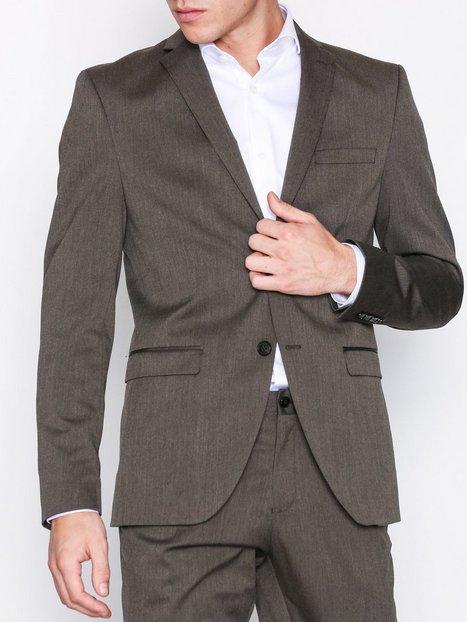Selected Homme Slhslim Mylologan Brown Blazer B Blazere jakkesæt Mørkebrun - herre