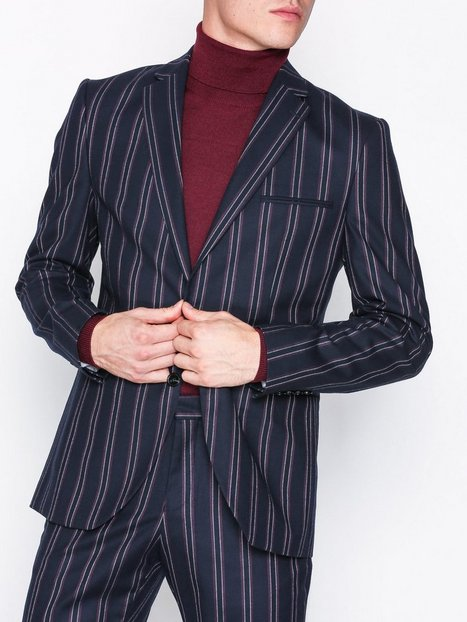 Selected Homme Slhslim Acesmart Red Stripe Blazer Blazere jakkesæt Mørkeblå - herre