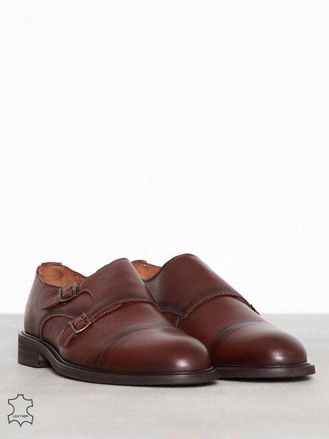 Selected Homme Slhbaxter Monk Leather Shoe B Elegante sko Brun - herre