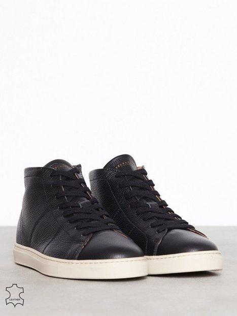 Selected Homme Slhdavid Hightop Leather Trainer W Sneakers Sort - herre