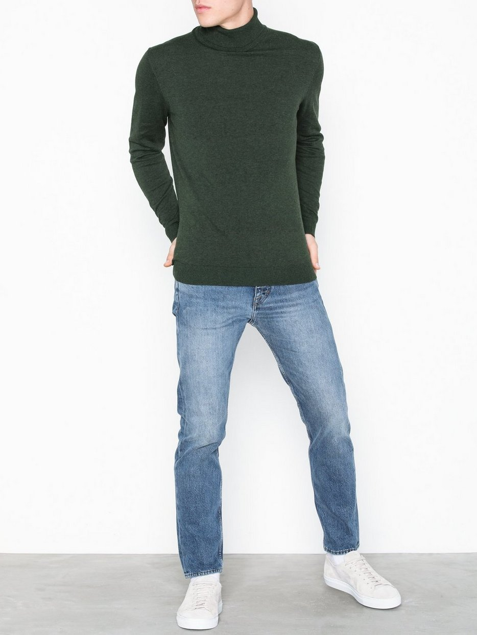 SLHTOWER COT/SILK ROLL NECK B
