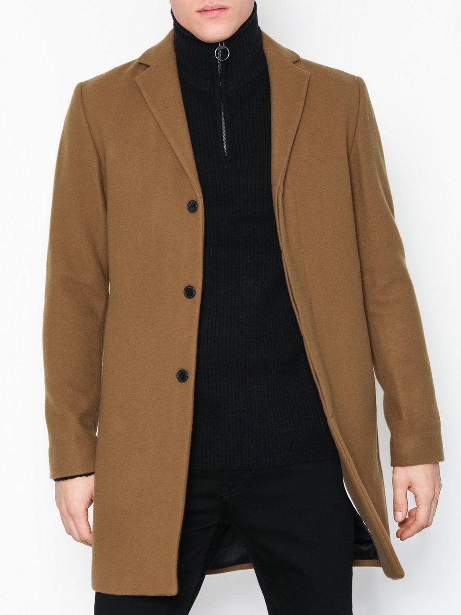 Homme Selected Coat Slhbroke Brown B Jackets Cashmere Light axBaUfF