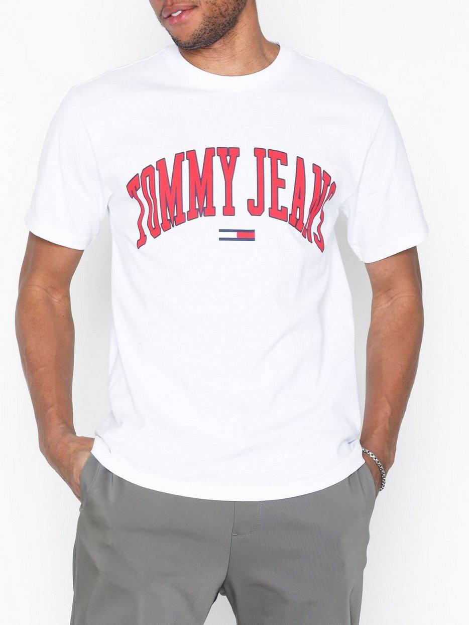 b5d9bf9e Tjm Collegiate Logo Tee - Tommy Jeans - White - T - Shirts & Linens ...