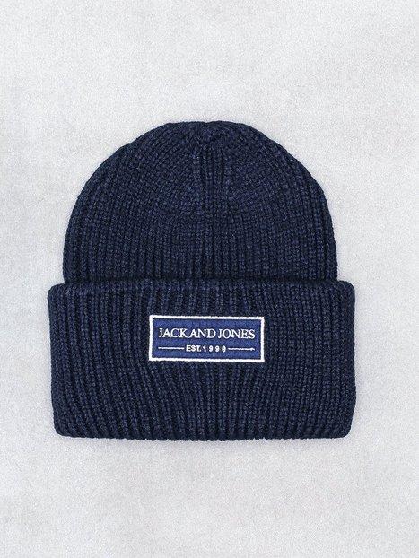 Jack Jones Jaclund Knit Beanie Huer Mørkeblå mand køb billigt