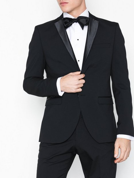 Selected Homme Slhslim Ryanlogan Black Tux Blz B Blazere jakkesæt Sort - herre