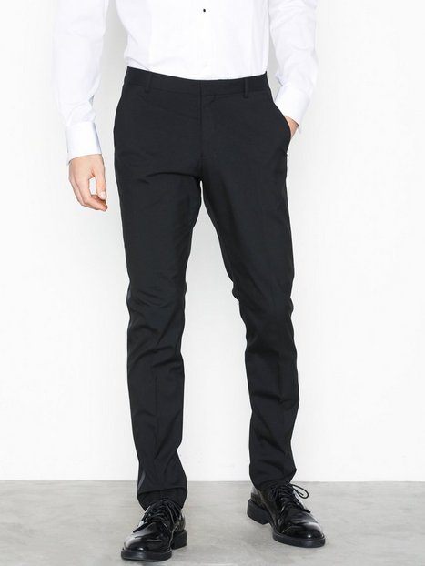 Selected Homme Slhslim Ryanlogan Black Tux Ga Trs Bukser Sort - herre