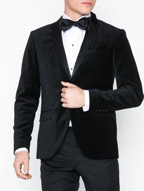 Selected Homme Slhslim Velour Blazer B Blazere jakkesæt Sort mand køb