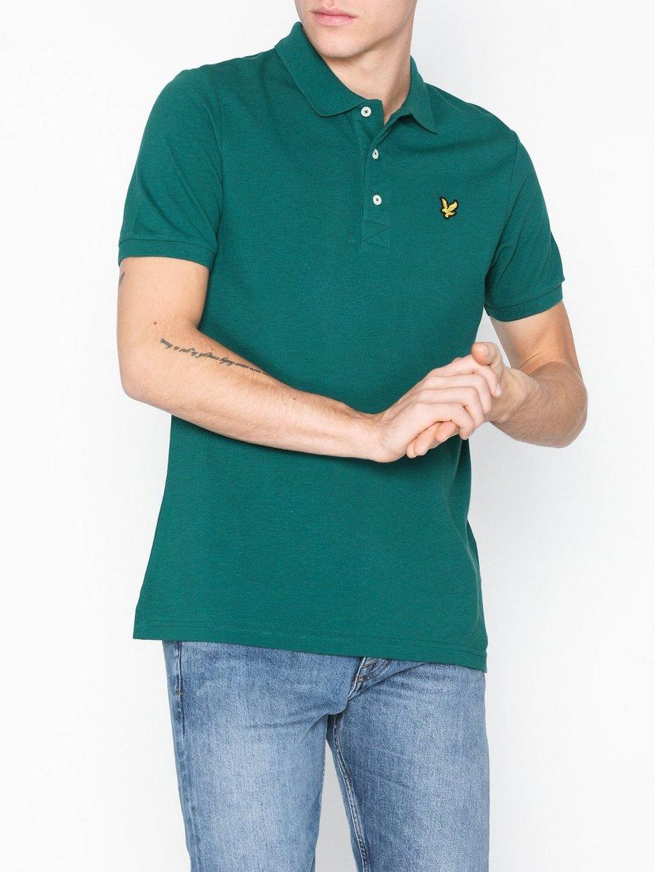 Marl Polo Shirt Lyle Scott Alpine Green Shirts Ampamp Red