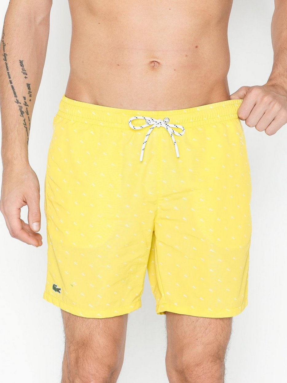 b1d3225d865 Maillot De Bain - Lacoste - Yellow - Swim Shorts - Swimwear - Men ...