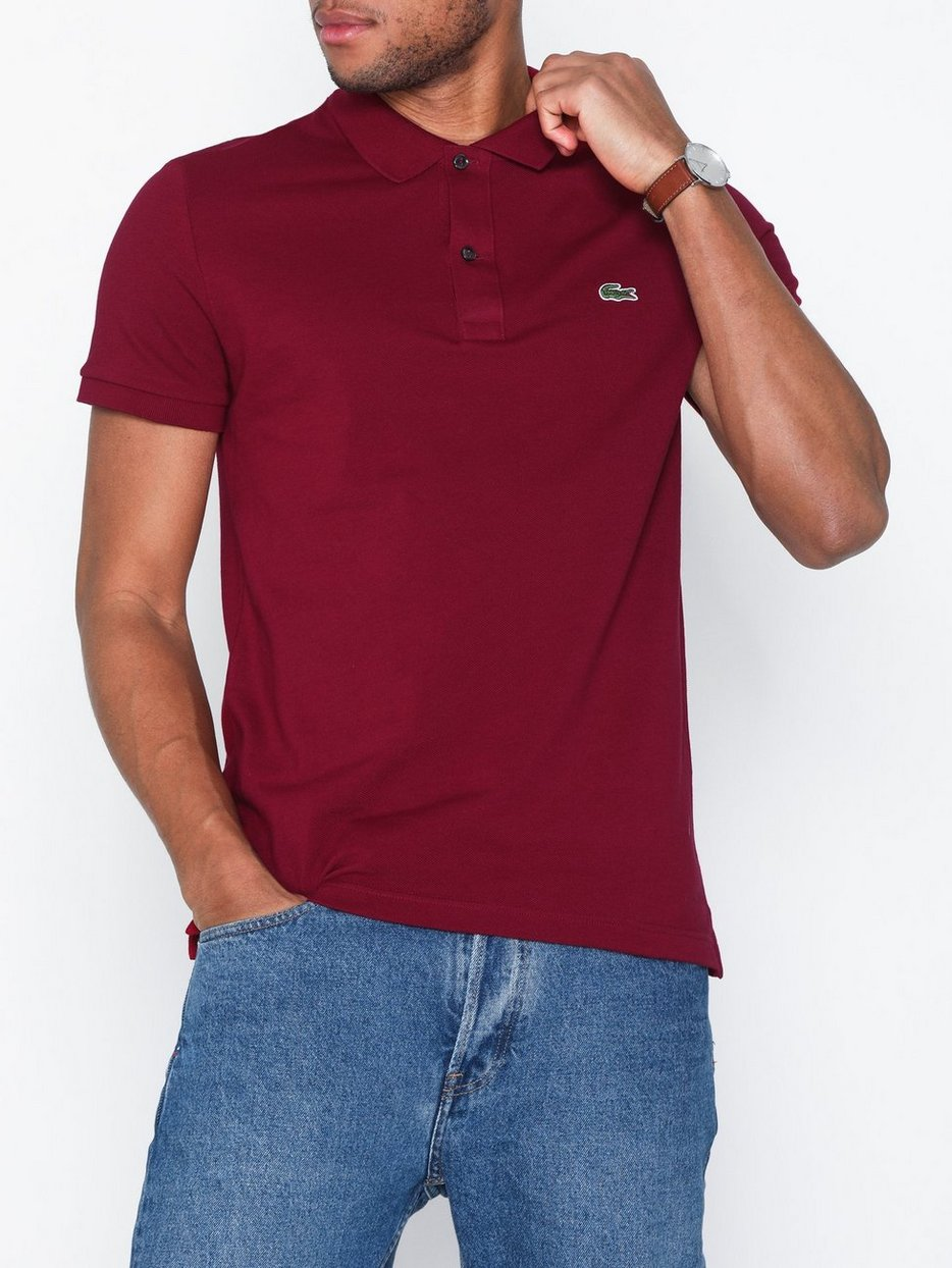 2f671b2c606 Chemise Col Bord - Lacoste - Bordeaux - Polo Shirts - Clothing - Men ...
