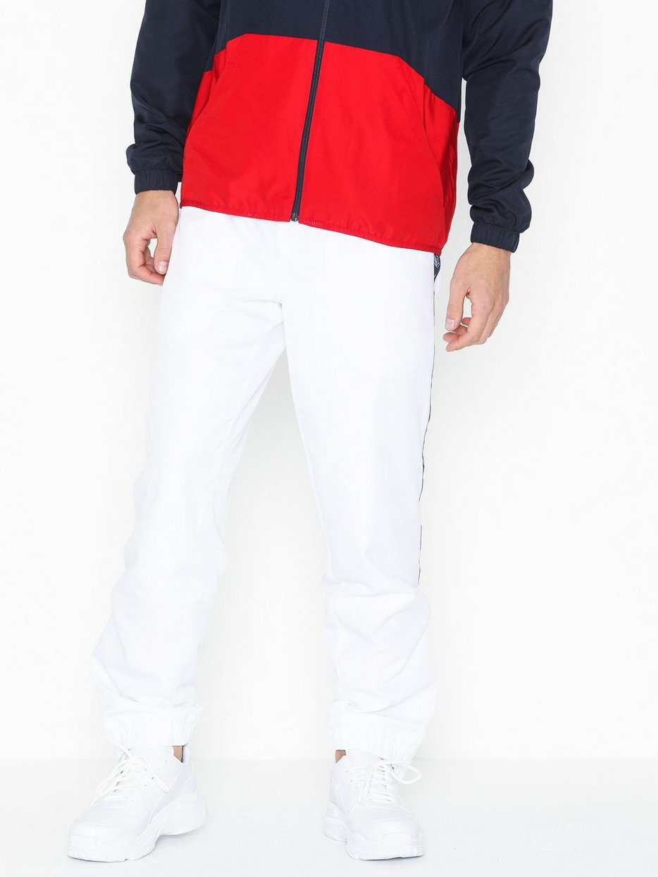 55f3b6e460 Pantalon De Survetement - Lacoste - White/Blue - Pants - Clothing ...