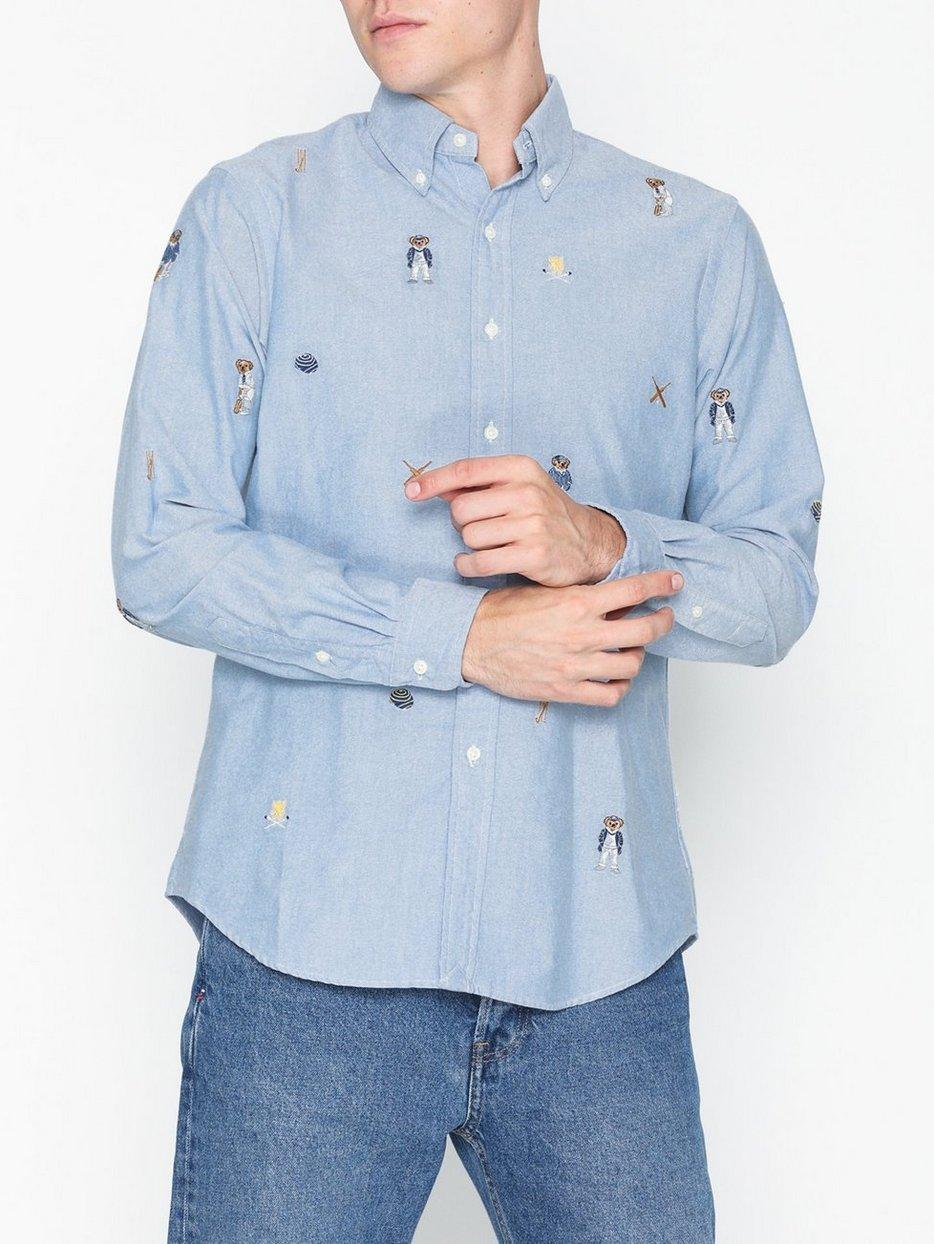 7ebdf5c70 Long Sleeve Sport Shirt - Polo Ralph Lauren - Blue - Shirts (Men ...