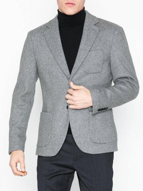 Selected Homme Slhslim Hale Grey Blazer B Blazere jakkesæt Grå - herre