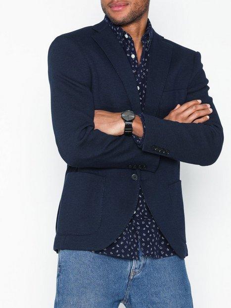 Selected Homme Slhslim Mil Navy Blazer B Blazere jakkesæt Mørkeblå mand køb billigt