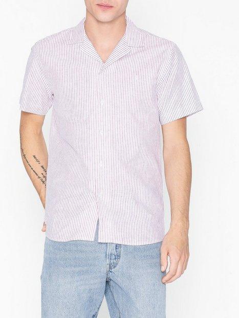 Les Deux Simon Shirt Skjorter Rød Hvid - herre