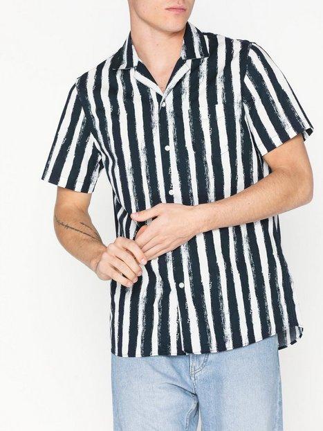 Samsøe Samsøe Einar SA shirt aop 8015 Skjorter Blue - herre