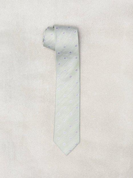 Amanda Christensen Jacquard Half Bottle Tie Slips Green - herre