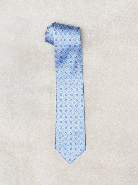 Amanda Christensen Printed Half Bottle Tie Slips Sky Blue - herre