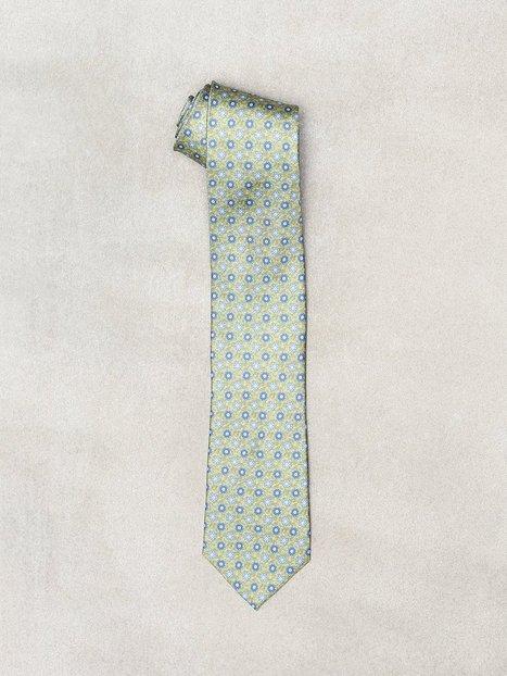 Amanda Christensen Printed Half Bottle Tie Slips Olive - herre