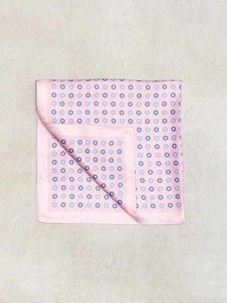 Amanda Christensen Printed Pocket Square Lommetørklæder Pink mand køb