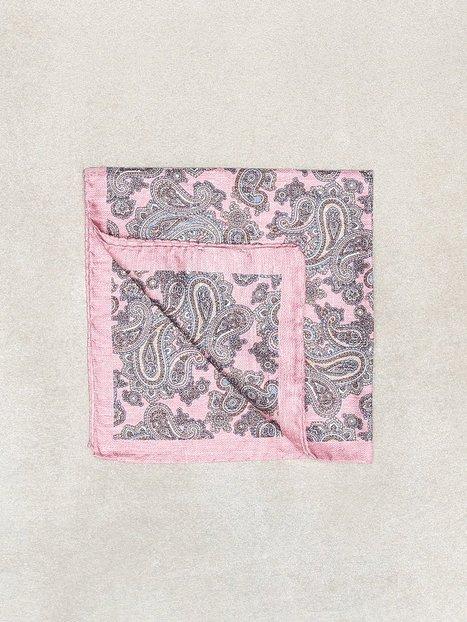 Amanda Christensen Printed Pocket Square Lommetørklæder Light Pink - herre