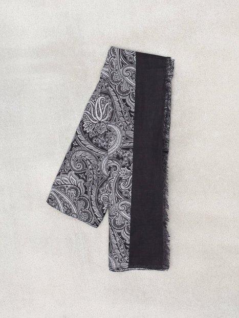 Amanda Christensen Printed Single Scarf Halstørklæder scarves Black mænd køb billigt