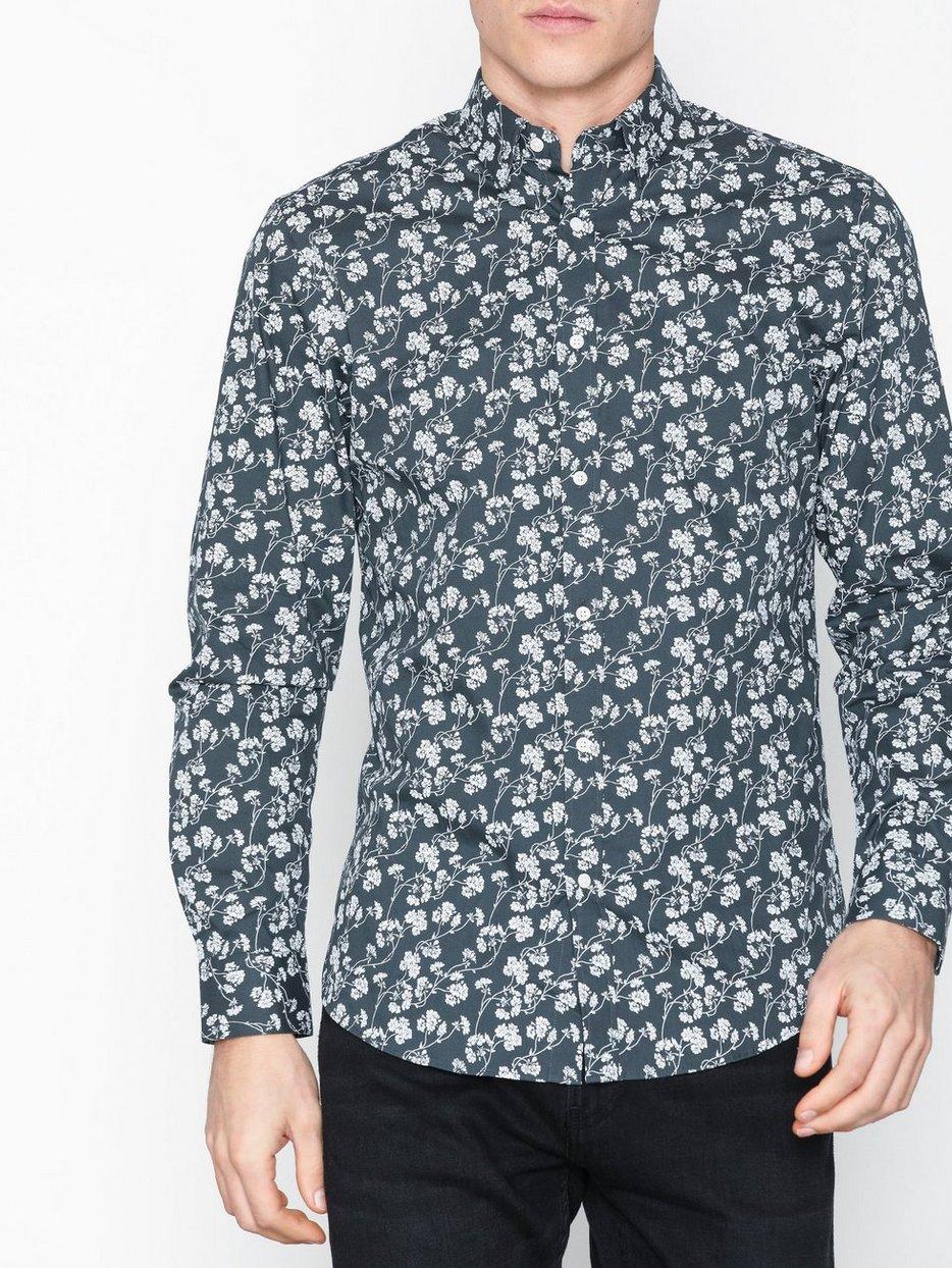 6de6f07807 Jprarizona Flower Shirt L S Pre - Premium By Jack   Jones - Dark ...