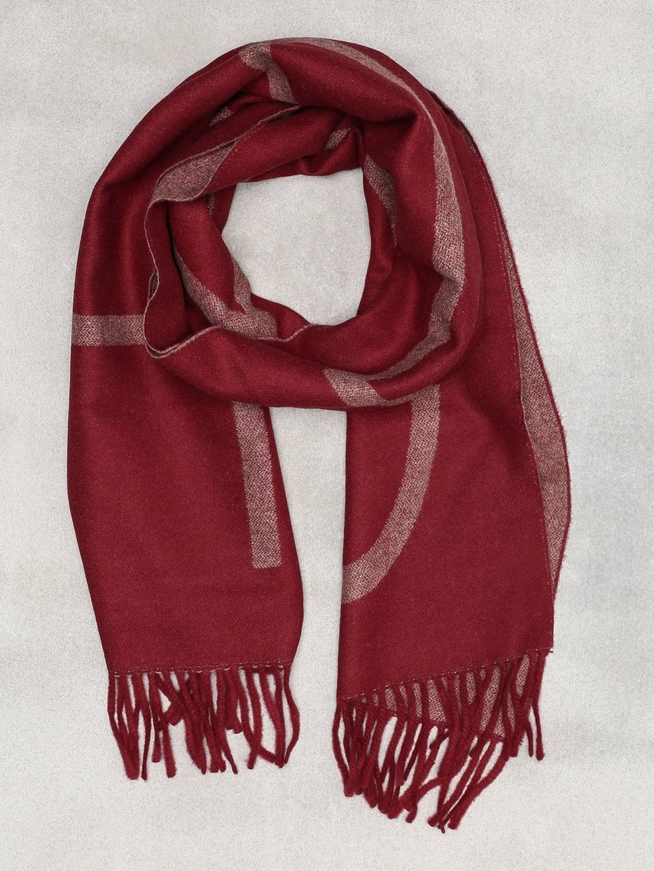 7664590e9cfd0 D1. Logo Wool Scarf - Gant - Red - Scarves - Accessories - Men ...