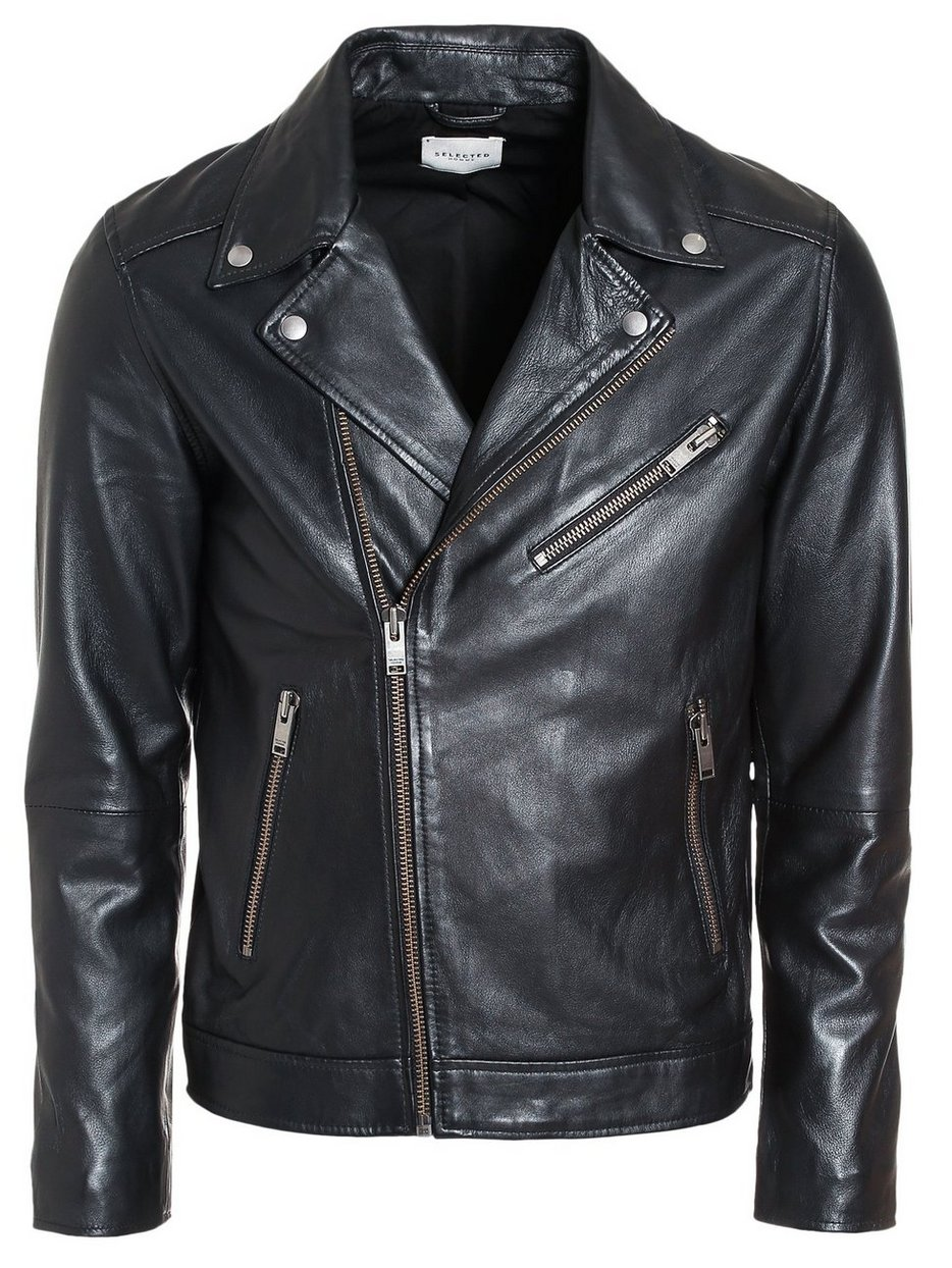 huge sale bab52 d21b7 SLH B-02 BIKER LEATHER JKT W, Selected Homme
