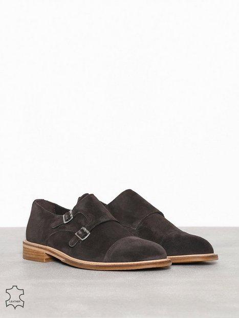 Selected Homme Slhbaxter Monk Suede Shoe B Elegante sko Brun - herre
