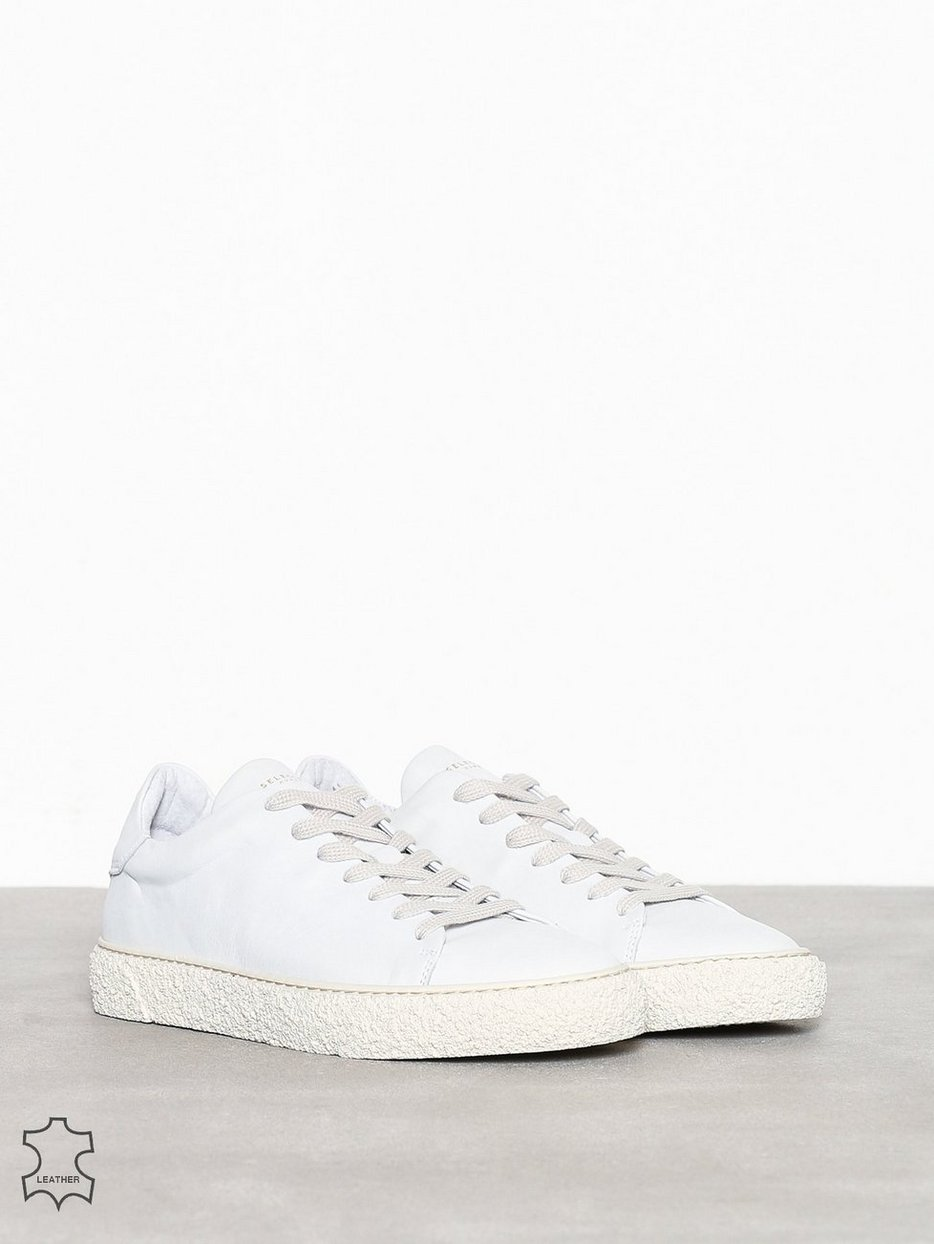 SLHDAVID FUNKY LEATHER TRAINER W
