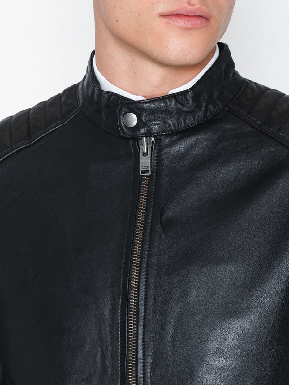 SLH R-03 RACER  LEATHER JKT W NOOS