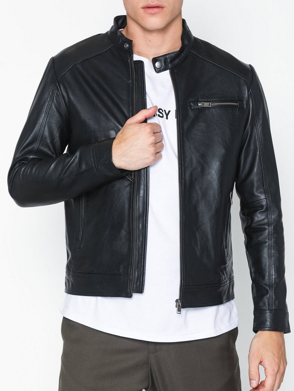 SLH C-01 CLASSIC LEATHER JACKET W N