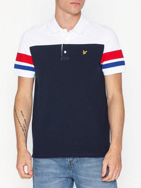 Lyle Scott Contrast Band Polo Shirt Polotrøjer Navy mand køb billigt