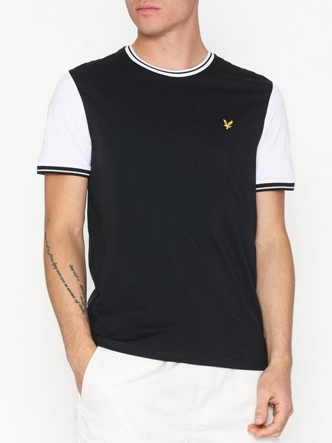 Lyle Scott Tipped T Shirt T shirts undertrøjer Black White - herre