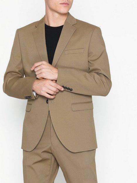 Selected Homme Slhslim Myloal Sand Blazer B Blazere jakkesæt Lysebrun mand køb billigt
