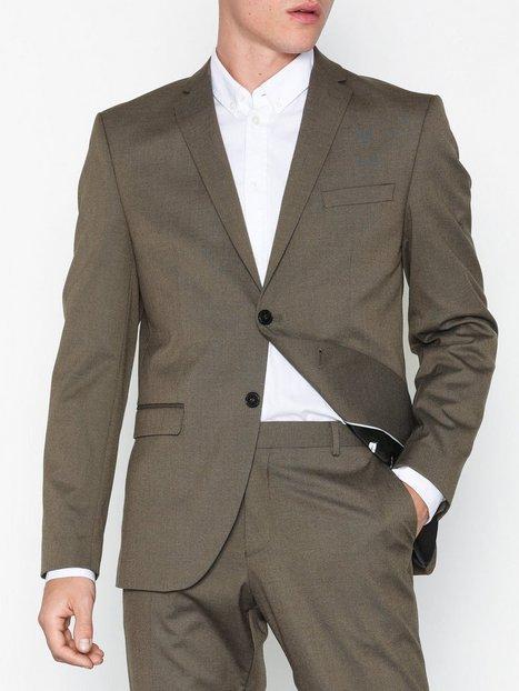 Selected Homme Slhslim Mylologan Lt Brown Blazer B Blazere jakkesæt Brun - herre