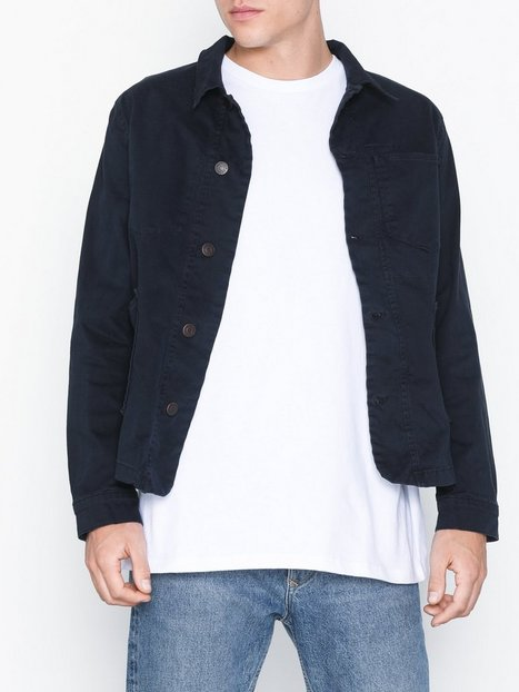 Selected Homme Slhtokyo Navy Cotton Jacket W Jakker frakker Mørkeblå - herre