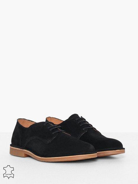 Selected Homme Slhroyce Derby Light Suede Shoe W Elegante sko Sort - herre