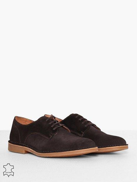 Selected Homme Slhroyce Derby Light Suede Shoe W Elegante sko Brun - herre