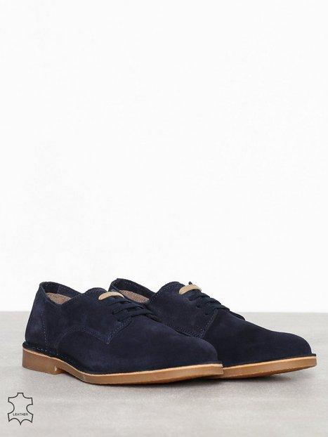 Selected Homme Slhroyce Derby Light Suede Shoe W Elegante sko Mørkeblå - herre
