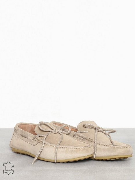 Selected Homme Slhsergio Drive Suede Shoe W Loafers slippers Lysebrun - herre