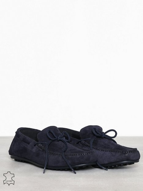 Selected Homme Slhsergio Drive Suede Shoe W Loafers slippers Mørkeblå - herre