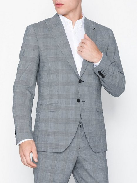 Selected Homme Slhslim Leedmodo White Check Blazer Blazere jakkesæt Hvid - herre