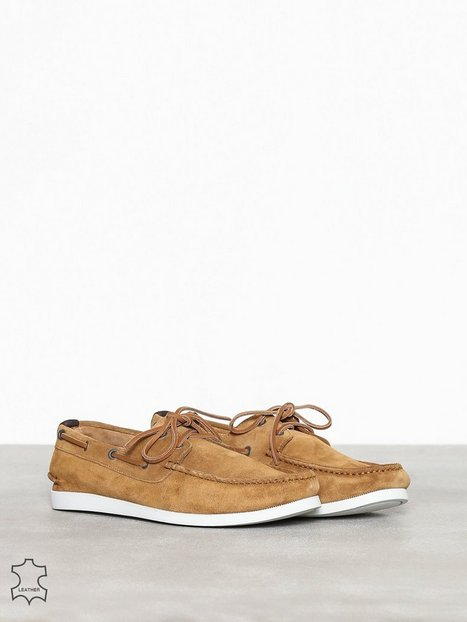 Selected Homme Slhsergio Boat Suede Shoe W Loafers slippers Brun - herre